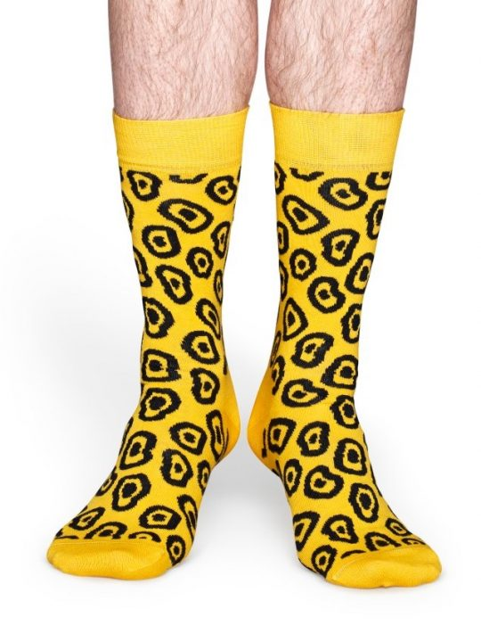 Happy Socks Yellow Blob kojines www.sukausa.lt 2